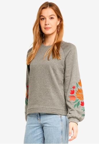 ICHI grey Percy Sweater C9DFDAAD7551EBGS_1