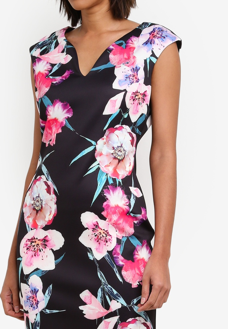 Print Wallis Black Shift Floral Black Dress FAaWq6BP6