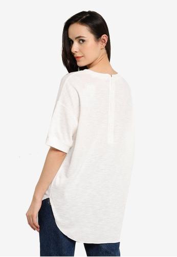 niko and ... grey Sheer Knit T-Shirt E871AAAFB9A398GS_1