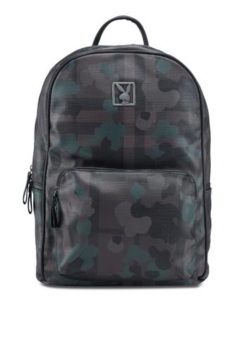 Playboy brown Camo Printed Backpack 10C8BAC59EB5BEGS_1