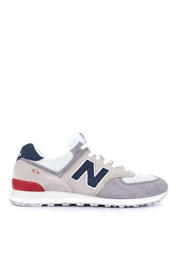 New Balance grey 574 Classic Lifestyle Sneakers D3E9FSHC196366GS_1