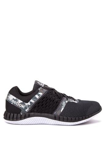 Reebok black and white ZPrint Run Camo GP Running Shoes RE600SH68SFVPH_1