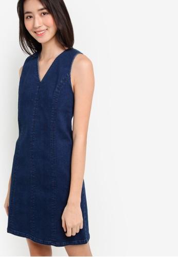 Love V-Neck Denim Dress