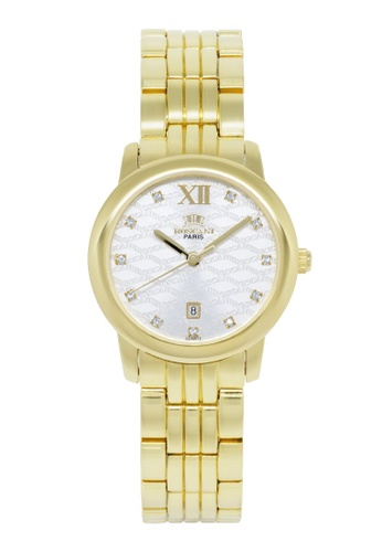 Roscani gold Roscani Grace B73 (Curved Crystal + Platinum Plating) Gold White Bracelet Women Watch C3826ACEA7A3FAGS_1