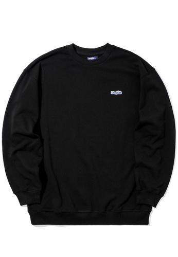 BLOCKAIT black Logo patch sweatshirt 90F2CAAEBB977BGS_1