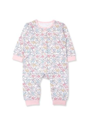 Organic mom pink and purple and multi Girls Autumn-Winter Weat Home-wear Pajamas 56FC0KA9075268GS_1