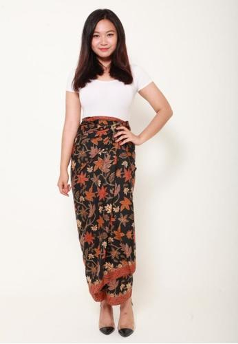 Naphthys Collection black and brown Batik Skirt/Sarong 46DB1AAB6DDB48GS_1