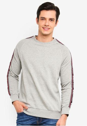 Burton Menswear London 灰色 圓領棉T 2EA3FAAB1B1200GS_1