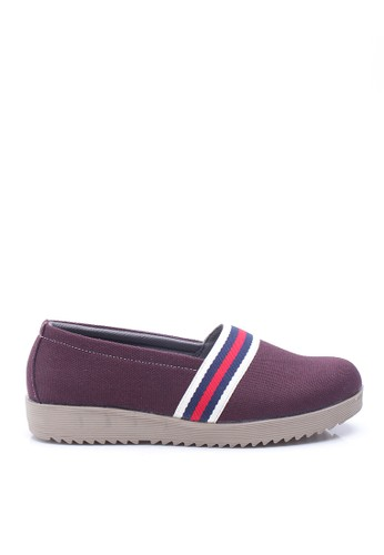 Dr. Kevin Women Flat Shoes Slip On 43136 - Maroon