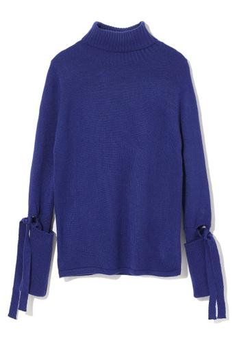 LOS ANGELES PROJECT -FASHION blue Sleeve tie sweater. B06D2AA32B768CGS_1