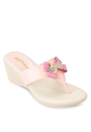 可愛蝴蝶結楔esprit 京站形涼鞋, 鞋