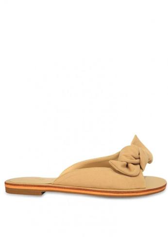 HDY beige Cherry Slide Flat Sandals B5C14SH5B02E2FGS_1