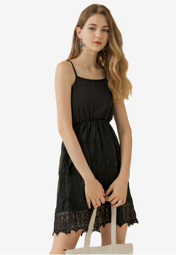 Eyescream black Lace Overlay Dress C3798AA12A8136GS_1