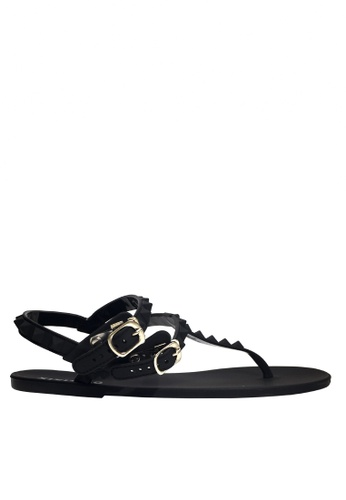 Twenty Eight Shoes black Jelly Toe Post Rain and Beach Sandals VR03 417BESH684893CGS_1