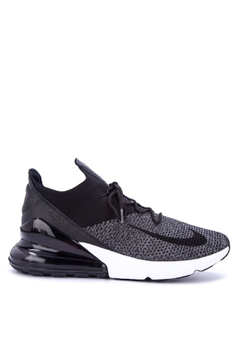 Nike black and white Nike Air Max 270 Flyknit Shoes 0D7C8SHCA59FECGS_1