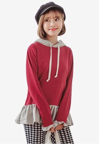 Sesura red Pretty Lady Layered Pullover 4B1F6AA54CB28AGS_1