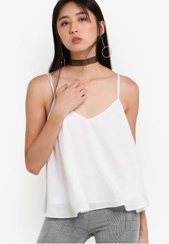 TOPSHOP white Rouleau Swing Camisole Top TO412AA93RVYMY_1