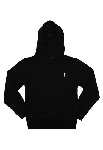 BOSSINI KIDS black Boys Pullover With Hood & Kangaroo Pocket FFDC4KA7ADF41BGS_1