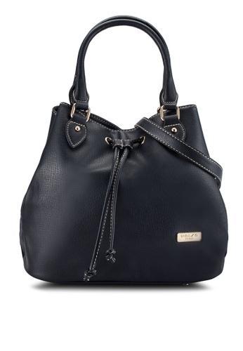 Unisa black Textured Top Handle Bucket Bag UN821AC0R9RDMY_1