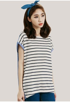 Lined Across Summer Tee