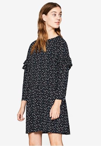 ESPRIT black Linght Woven Midi Dress ES374AA0SXZSMY_1