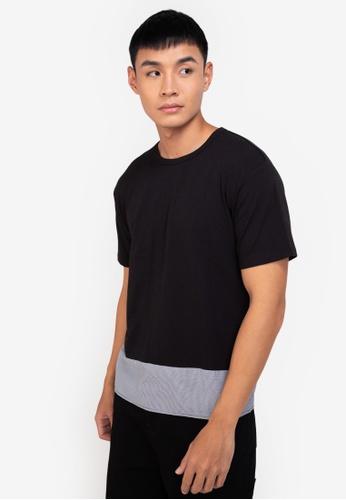 ZALORA BASICS multi Checked Hem T-Shirt 580B0AA8630698GS_1