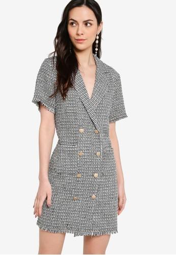 ZALORA WORK multi Double Breasted Tweed Dress 6B9D5AA4C52D22GS_1