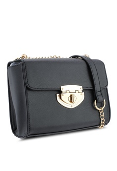 876f3dc80f3 30% OFF Dorothy Perkins Black Lock Chain Crossbody Bag S  49.90 NOW S   34.90 Sizes One Size