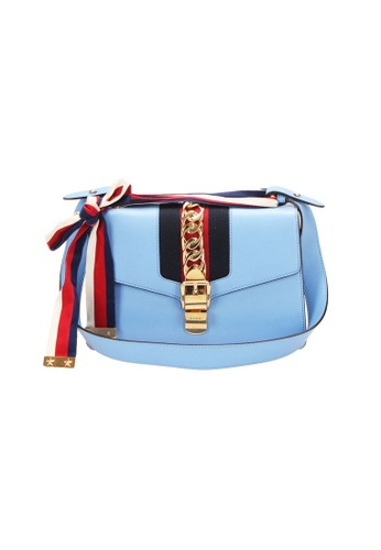 GUCCI blue Pre-Loved gucci Gucci Silvey Small Shoulder Bag in Blue 2D01AAC84EBC45GS_1
