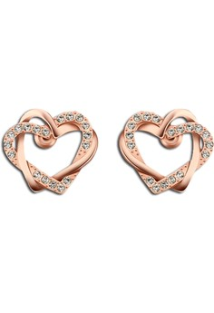 Shaina Heart Rose Gold Plated Earrings