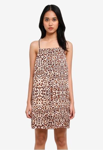 TOPSHOP multi Leopard Mini Slip Dress 957FAAAEBC6E8DGS_1