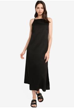 452d5093551 ZALORA BASICS black Basic Cami Midi Dress D9CF1AA2D60A0CGS_1