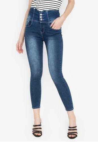 Balaynor blue High Waist Skinny Jeans 0DDF0AAA9D0636GS_1