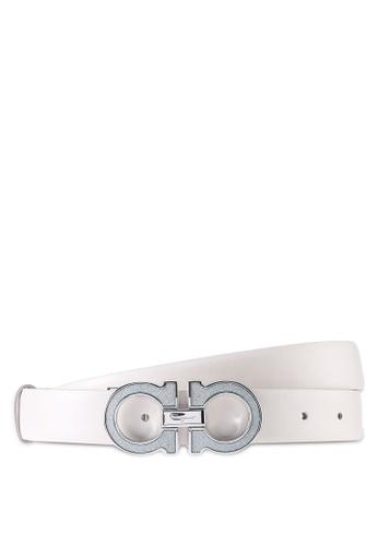 Ferragamo white Gancini Belt (zt) 01FEFAC02F4599GS_1