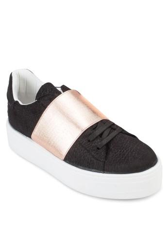 esprit hk store金屬寬帶繫帶厚底運動鞋, 女鞋, 鞋