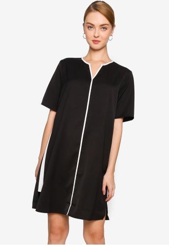 ZALORA WORK black Contrast Binding Dress 562F4AA117C2C2GS_1