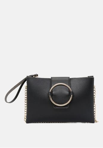 London Rag black Sling bag with magnetic flap closure DE656AC050DCE5GS_1