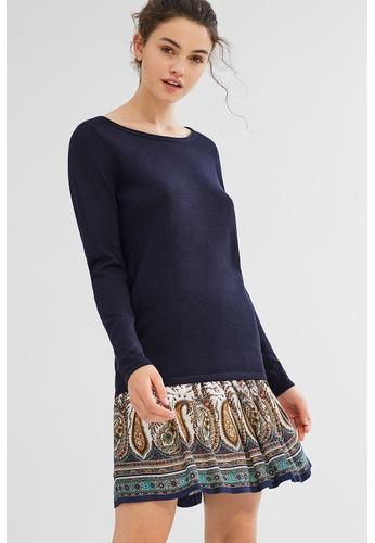 ESPRIT blue Basic jumper in soft fine knit yarn E3FC7AA8AAA4E8GS_1