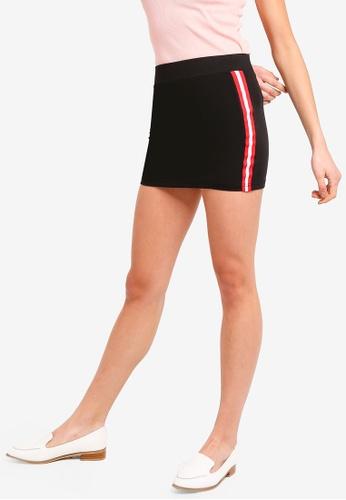 ZALORA BASICS multi Basic Side Stripes Skirt E912DAA28C4D4FGS_1