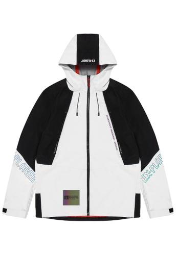 Fingercroxx white Lightweight panel jacket 16E86AA564D275GS_1