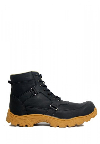 Cut Engineer black Cut Engineer Safety Boots Rider Iron Leather Black CBB6BSH4376612GS_1