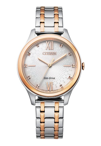 Citizen silver Citizen Eco-Drive EM0506-77A Gold and Silver Stainless Steel Watch F5EBCACAAD4E39GS_1