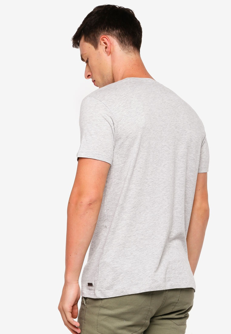 ESPRIT T Grey Short Sleeve Shirt tzUxPq8