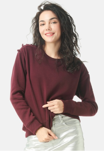 London Rag red Sweatshirt With Shoulder Lace Loop A9070AA0408BEAGS_1
