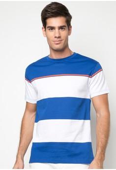 Men's Striped Round Neck Tee