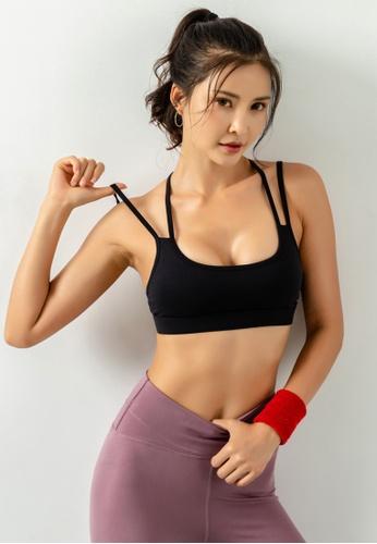 HAPPY FRIDAYS Women's Medium Support Sports Bra DK-WX16 841A8AA40DFFD8GS_1