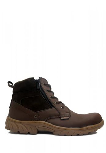 Cut Engineer brown Cut Engineer Zipper Safety Boots Donald Tactikal Dark Brown 7AC13SH786BA54GS_1