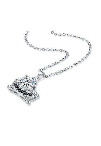 A-Excellence white Premium Elegant White Sliver Necklace 33A94AC1303CBFGS_1