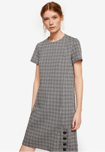 Mango grey Buttoned Check Dress C0303AA54A87D0GS_1