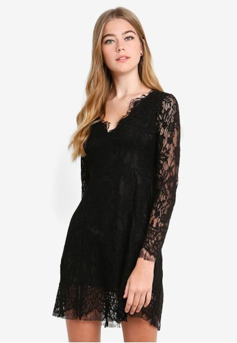 Eyescream black Lace Fit And Flare Dress 31868AA23CA809GS_1